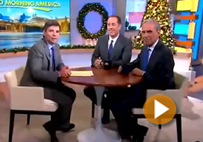 Jerry Seinfeld & George Stephanopoulos talk Transcendental Meditation with Bob Roth on Good Morning America